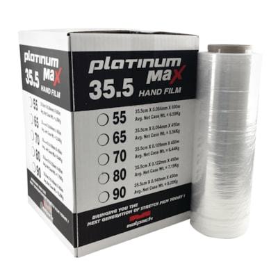 "Malpack Platinum Max Hand Wrap, Clear, 17.7"" x1476', 80 Gauge, Carton of 4 Rolls PLATINUM MAX HAND WRAP 4/CS"