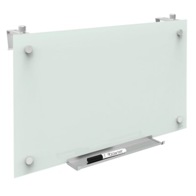 """Quartet® Magnetic Glass Cubicle Board, 24"""" x 14"""" PERSONAL DRY-ERASE 14"""" X 24""""  WHITE"""