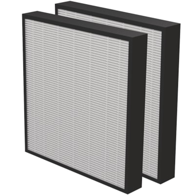 """Fellowes AeraMax Pro AM3 or AM4 True HEPA 2"""" Filter, Pack of 2  Antimicrobial Treatment 2pk"""