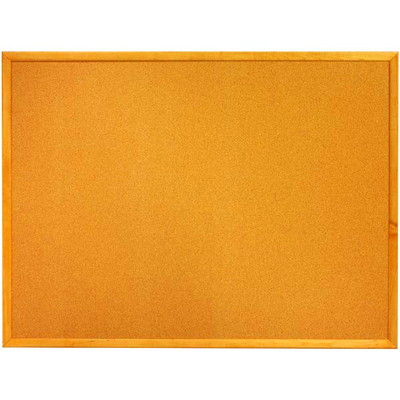 "Quartet Standard Oak Finish Frame Cork Bulletin Board  RESILIANT CORK  - SOLID OAK FRAME WIDTH 1-3/4"" QUARTET"