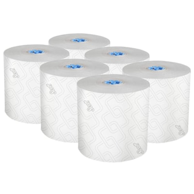 Scott® Pro 1-Ply High Capacity Hard Roll Paper Towels, White, 700', Carton of 6 BLUE CORE 6/CASE