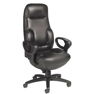 Global Executive Concorde 24-Hour High-Back Synchro-Tilter Chair, Black SYNCHRO-TILTER MAX WGT 350 LBS BLACK LEATHER GLOBAL