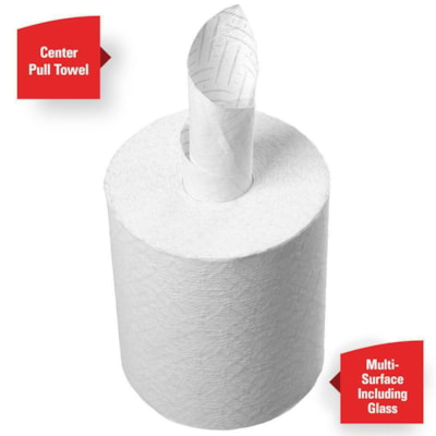 WypAll® Reach Centre-Pulls Towels, White, Carton of 6 Rolls (2,040 Sheets) 340 SHEETS/ROLL CASE OF 6ROLLS