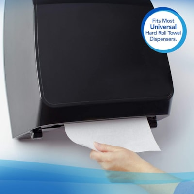 Scott 1-Ply Essential Plus+ Hard Roll Hand Paper Towels, White, 600', Carton of 6 8INX600FT 40% RECYCLED CONTENT
