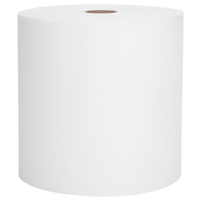 Scott 1-Ply Essential Universal High-Capacity Hard Roll Hand Paper Towels, White, 1,000', Case of 12 WHITE  HARD WOUND ROLL NON PERFORATED