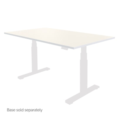 """Fellowes Levado 48"""" x 24"""" Laminate Tabletop, White (tabletop only)  - White"""