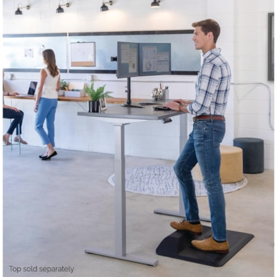Fellowes Cambio Height Adjustable Desk Base, Silver (base only) - Base Only