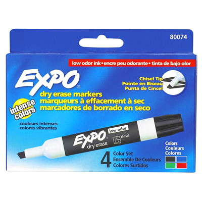 Expo Low-Odour Dry-Erase Marker - Chisel Tip LOW ODOUR CHISEL POINT NON TOXIC SANFORD EXPO