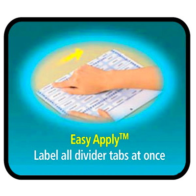 "Avery Print & Apply Dividers with Easy Apply Labels, White Dividers/Tabs with Clear Labels, 8 1/2"" x 11"", 5-Tabs/ST, 25-Sets/BX (25 SETS/BOX) AVERY 3 CLEAR LABEL SHEETS  20% PCW"