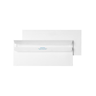 Quality Park Redi-Seal White #10 Business Envelopes 4-1/8 X 9.5 WHITE 500/BX NO MOISTURE REQUIRED