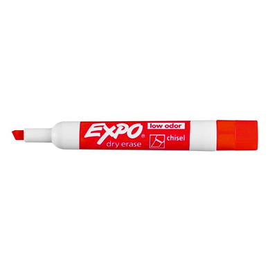 Expo Low-Odour Dry-Erase Marker - Chisel Tip BOARD CHISEL TIP NON-TOXIC SANFORD EXPO LOW OROUR
