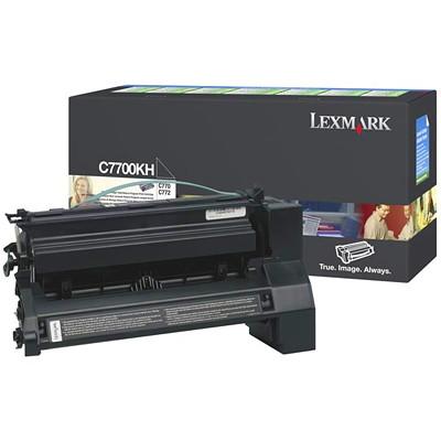 Lexmark C770, C772 High Yield Return Program Black Toner Cartridge (C7700KH) HIGH YIELD 10K BLACK RETURN CARTRIDGE