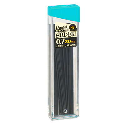 Pentel Super Hi-Polymer Pencil Refill Leads 30PK