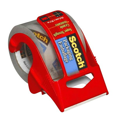 Scotch Packaging Tape with Handheld Sure Start Dispenser HANDHELD CLEAR TAPE 48 MM X 20.3 M