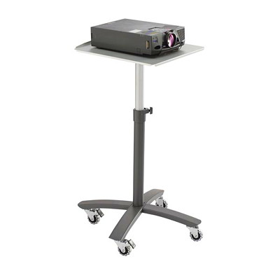 Quartet Single-Shelf Projector Cart HOLDS UP TO 22LBS  SILVER ADJUSTABLE