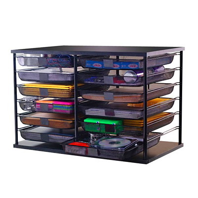 Rubbermaid 12-Compartment Organizer with Mesh Drawers ORGANIZER REMOVEABLE DRAWERS STACKABLE