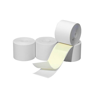 "McDermid 2-Ply Carbonless Paper Rolls, 2 1/4"" x 100', 50/CT NCR ROLL 2.25"" X 100 FT 50 ROLLS/CARTON 3"" DIAMETER"