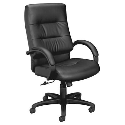 Basyx VL691 High-Back Executive Tilter Chair BLACK LEATHER  HON BASYX