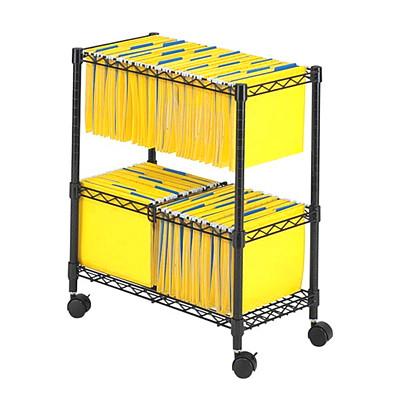"Safco Wire File Cart BLACK  FILING CART 24 3/4""WX13 7/8""DX29 3/4""H"