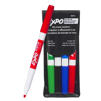 Expo Low-Odour Dry-Erase Markers LOW ODOUR BULLET POINT NON TOXIC SANFORD EXPO