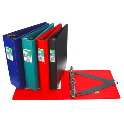 "Grand & Toy Locking Letter-size (8 1/2"" x 11"") D-Ring Binder LEATHER GRAINED VINYL 2 INSIDE POCKETS 540 SHT CAP SHT LIFTER"