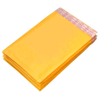 Grand & Toy Self-Adhesive Bubble Mailers, Kraft, #7, 25/CT