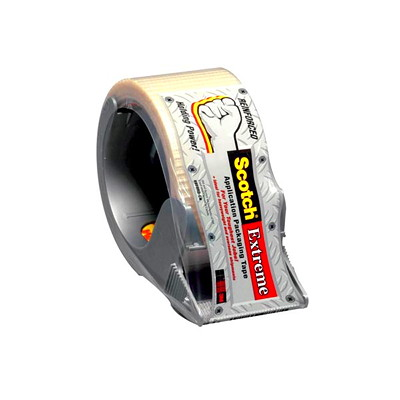 Scotch Extreme Application Reinforced Packaging Tape with Dispenser DISPENSER 50MM X 20M FILAMENT TAPE