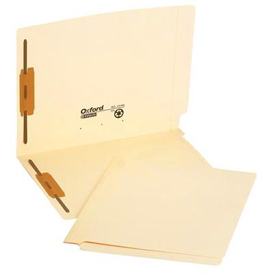Pendaflex Laminated Manila Shelf Folders With 2 Fasteners W/2 FASTENERS POSITION 1 & 3 FULLCUT TAB