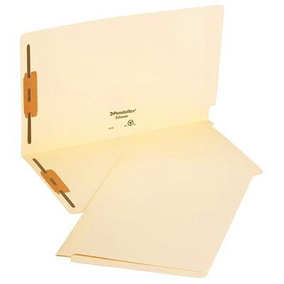 "Pendaflex Laminated Manila Shelf Folders With 2 Fasteners, Legal 2"" FASTENER POSITION 1&3 FULLCUT TAB"