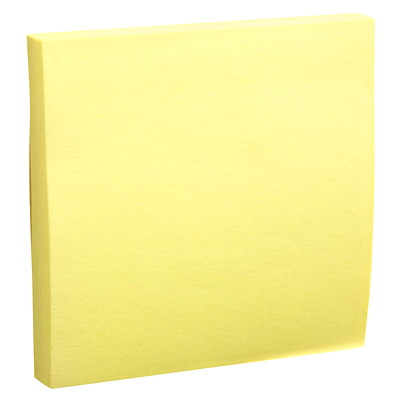 "Grand & Toy Self-Stick Notes, Yellow, Unlined, 3"" x 3"", 100 Sheets/Pad, 18/PK REPLACED 99140"