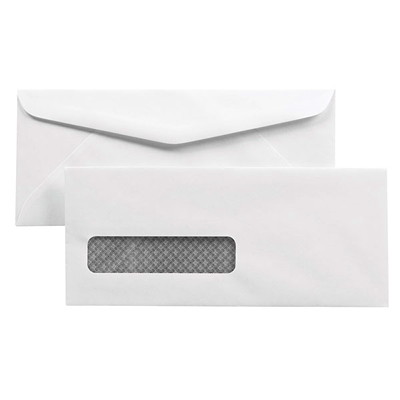 Quality Park Security-Tinted White Business Envelopes 24LB RECYCLED 30%POST CONSUMER