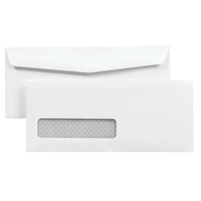 Quality Park Business Envelopes, White, Security Tinted, #10, 500/BX