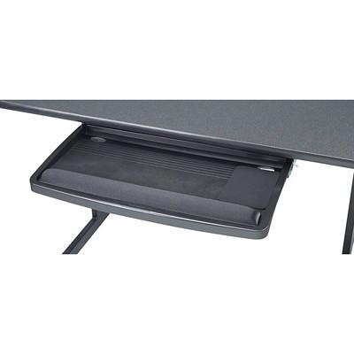 """Kensington Under-Desk SuperShelf II Keyboard Drawer, Black EXTRA WIDE 26"""" TRAY W/MOUSING AERA HEIGHT ADJ.W/GEL WRIST PD"""