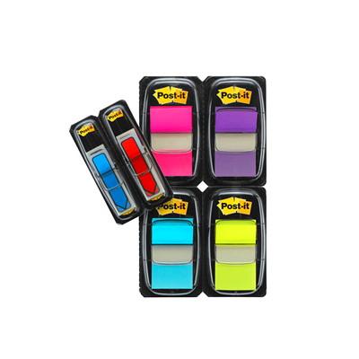 Languettes adhésives Post-it en emballage économique avec languettes avec flèche en prime, 1po x 17/10po et 1/2po x 13/4po, emb. de 248 ÉCONOMIQUE ASST DE COULEURS AVEC FLÈCHES