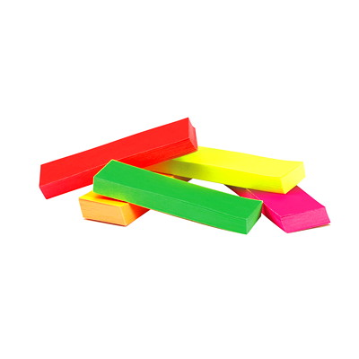 "Post-it Page Markers, Assorted Fluorescent Neon Colours, 1/2"" x 2"", 50 Sheets/Pad, 5 Pads/PK  FLUORESCENT NEON COLOURS 50 SHT/PAD 5 PADS/PK"