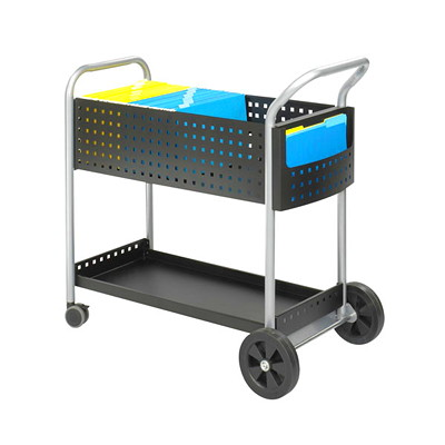 "Safco Scoot Mail Cart HOLDS LEGAL FILES 22 1/2""WX39 1/2""DX40 3/4""H"