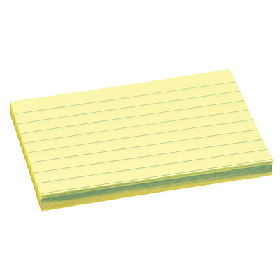 "Post-it Original Lined Notes, Canary Yellow, 3"" x 5"", 100 Sheets/Pad, 12 Pads/PK REMOVABLE STICKS TO MOST SURFACES 100/PAD"