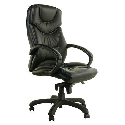 Horizon Activ Executive High-Back Tilter Chair CHAIR KNEE TILTER BLACK LEATHR HORIZON