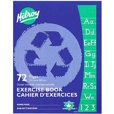 Hilroy Recycled Exercise Book  INTERLINED DARK BLUE  72PAGES 9-1/8 X 7-1/8
