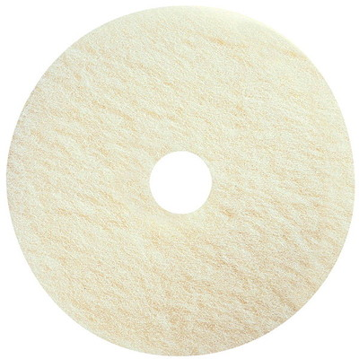 "Prime Source Super Polishing Floor Pads, White, 17"", 5/CS '"