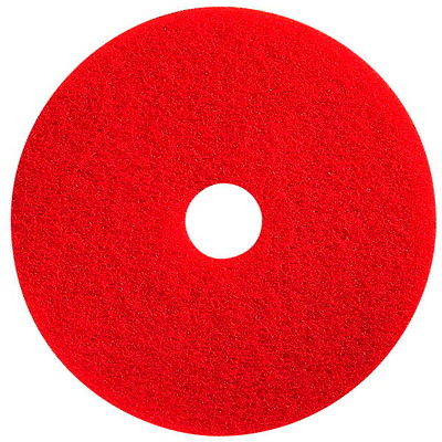 "Prime Source Spray Buffing Floor Pads, Red, 17"", 5/CS"