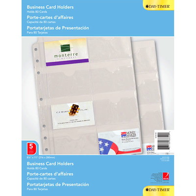 """Day-Timer Business Card Holders, 8 1/2"""" x 11"""", Trilingual, 5 Sheets Per Package 8-1/2 X 11 TRILINGUAL"""