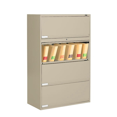 Global 9100 Plus Series 4-High End Tab Filing Cabinet GLOBAL