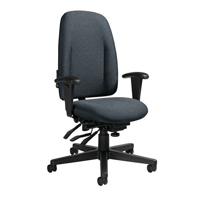 Global Granada High-Back Multi-Tilter Chair With Schukra Lumbar Support GLOBAL W/SCHUKRA LUMBAR SUPPRT 3N ARMS