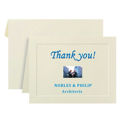 St. James Overtures Note Cards EMBOSSED BORDERS 40/PKG 47LB 2 PER PAGE  RECYCLED W/ 30%PCW