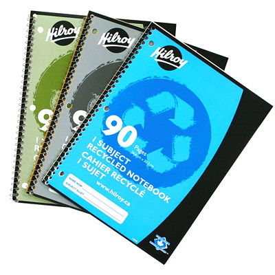 Hilroy Recycled Notebook 10.5 X 8   90 PAGES