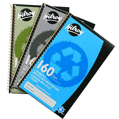 Hilroy Recycled Notebook 9.5 X 6   160 PAGES