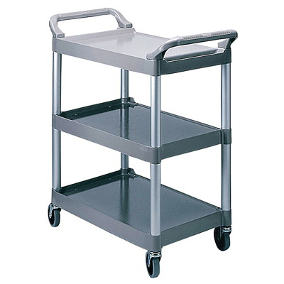 Rubbermaid Utility Cart BRUSHED ALUMINUM UPRIGHTS CAPACITY  200LBS