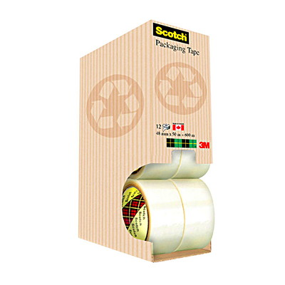 Scotch Hi-Pro Packaging Tape with Sustainable Packaging RECYCLED PACK 48MM X 50M 12/CT