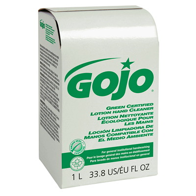 Gojo NXT Green Certified Lotion Hand Cleaner Refill  LOTION CLEANER 1 000 ML FITS NXT DISPENSERS